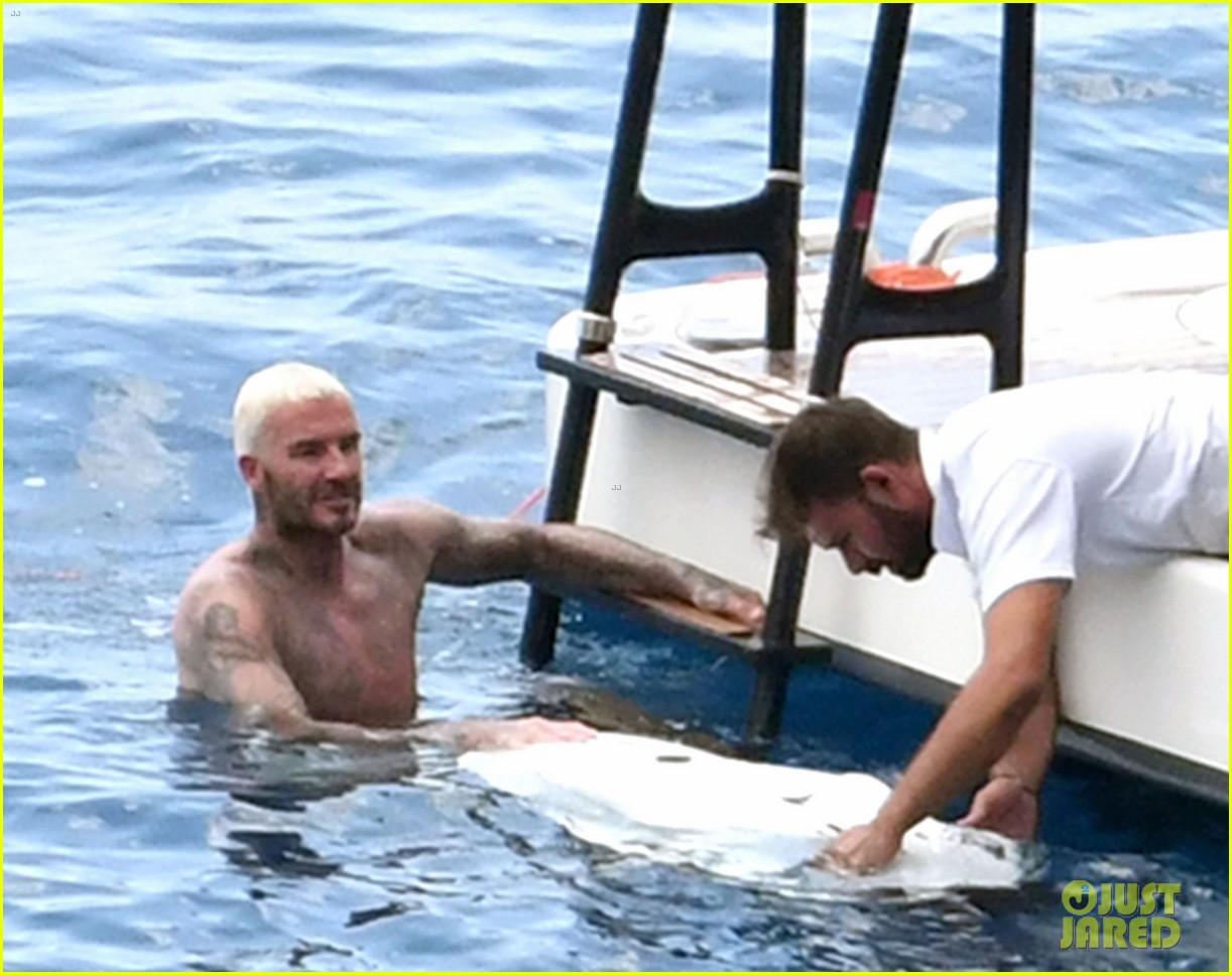david beckham jumps off yacht with son cruz beckham 054594571