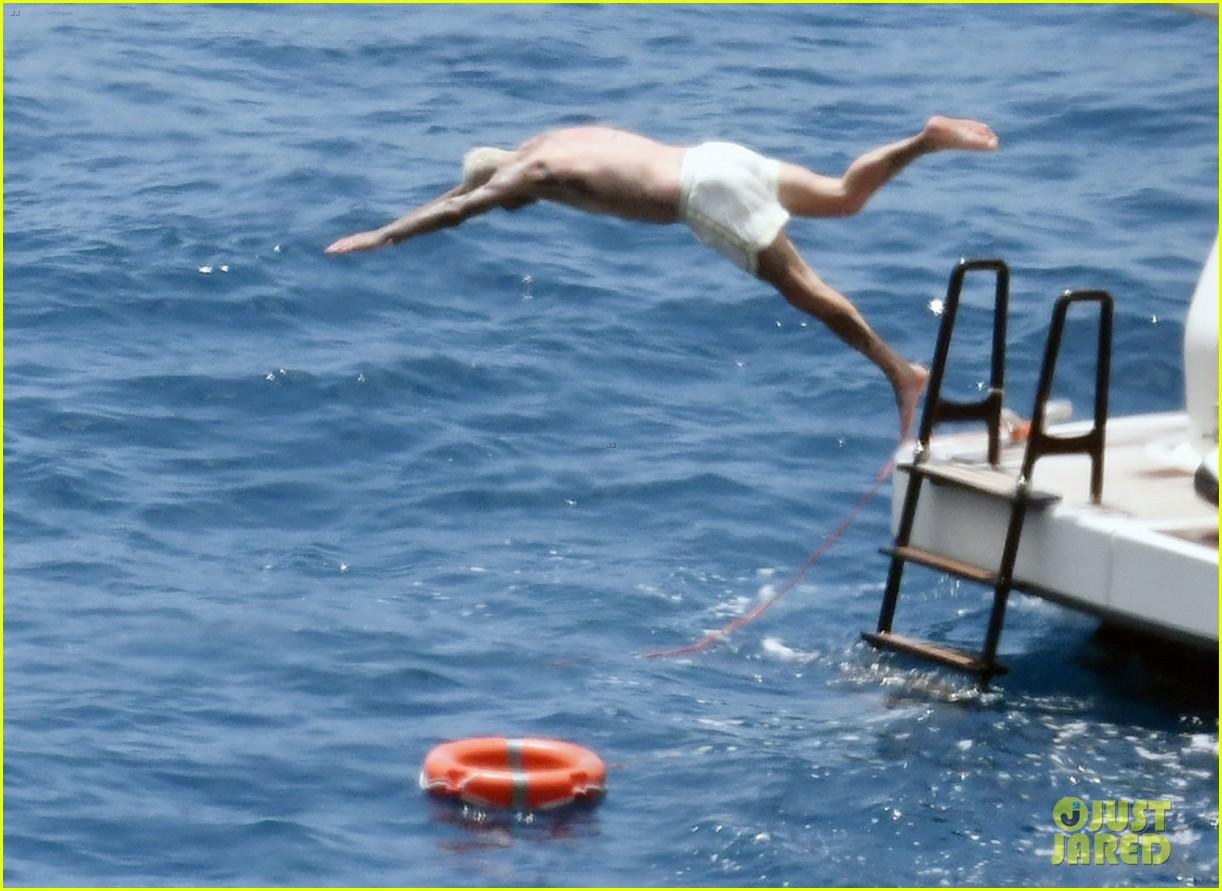 david beckham jumps off yacht with son cruz beckham 114594577
