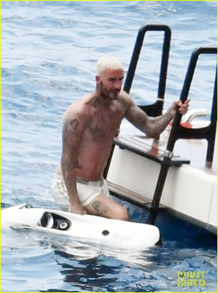 david beckham jumps off yacht with son cruz beckham 134594579