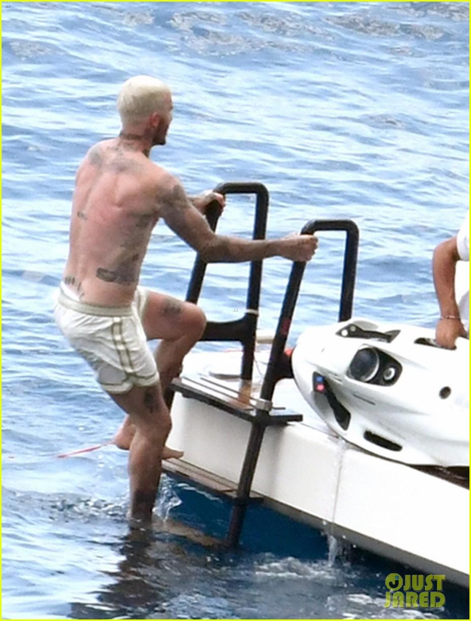 david beckham jumps off yacht with son cruz beckham 164594582