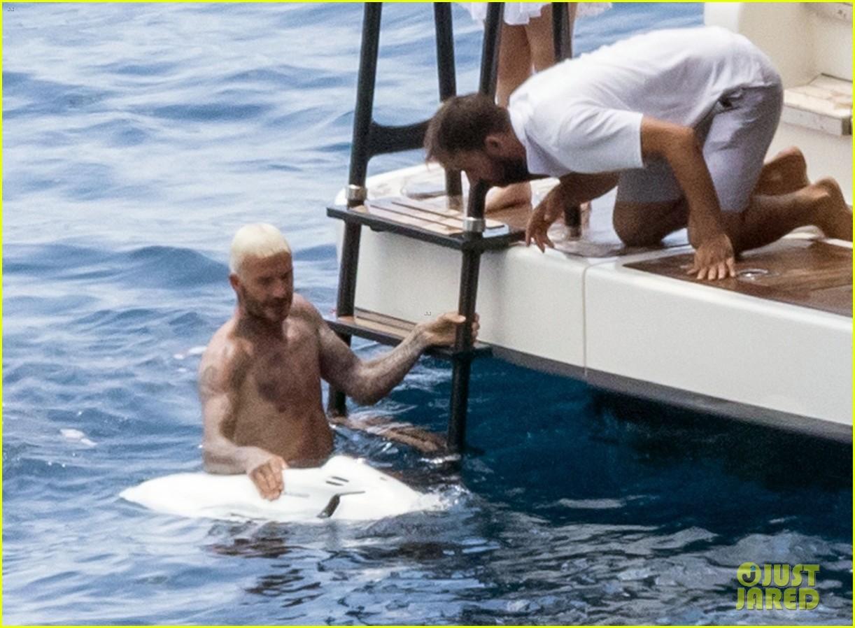 david beckham jumps off yacht with son cruz beckham 214594587