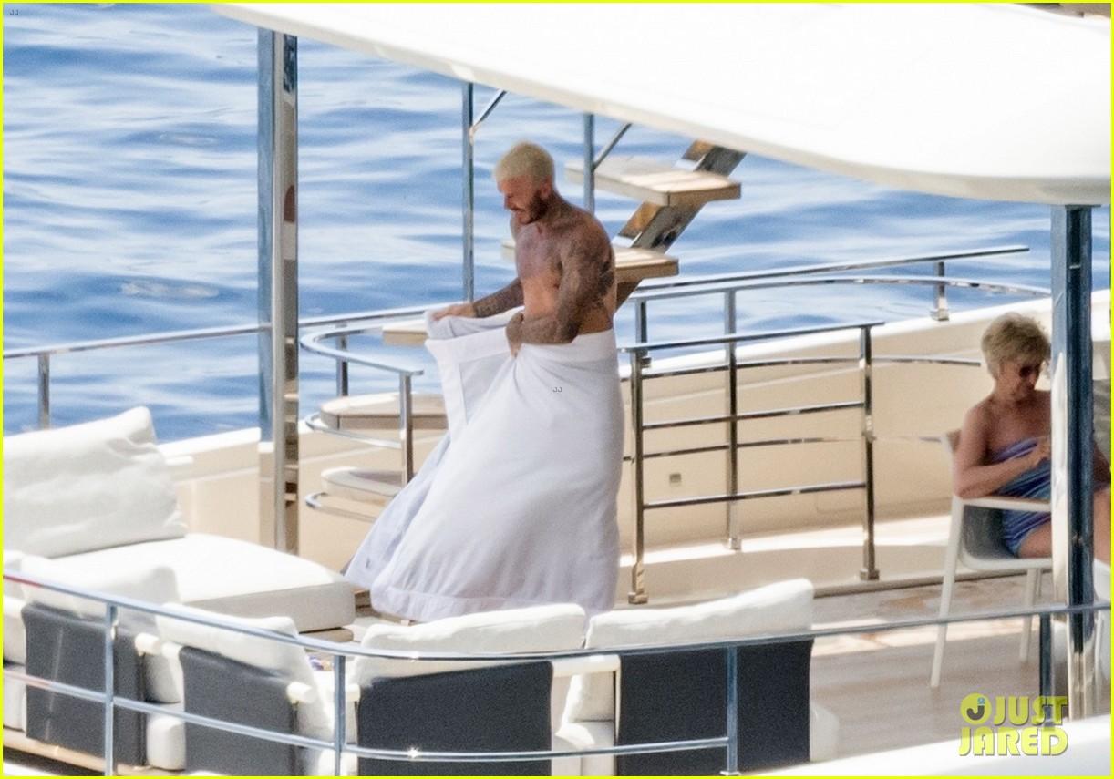 david beckham jumps off yacht with son cruz beckham 264594592