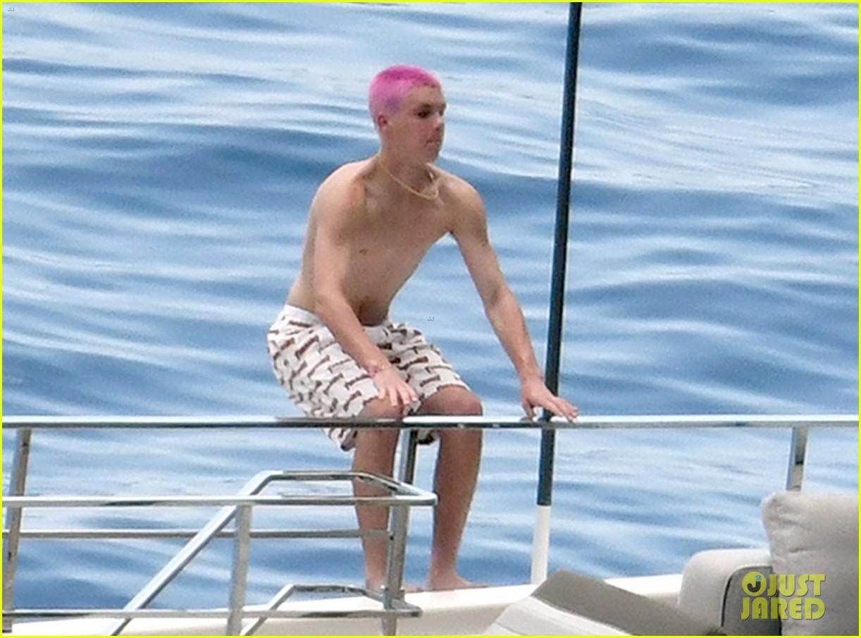 david beckham jumps off yacht with son cruz beckham 544594620
