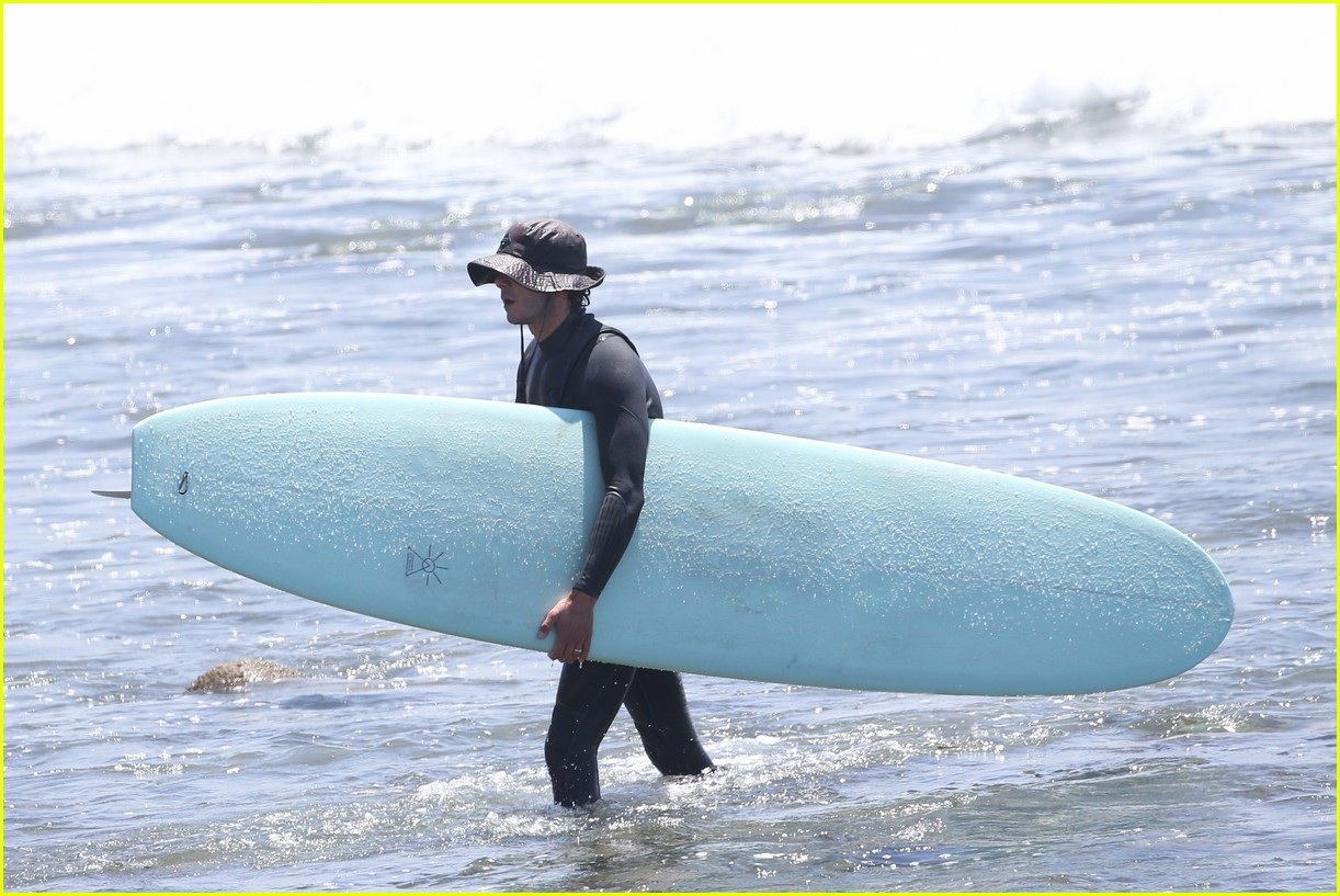 adam brody slips into wetsuit for afternoon of surfing 034585072