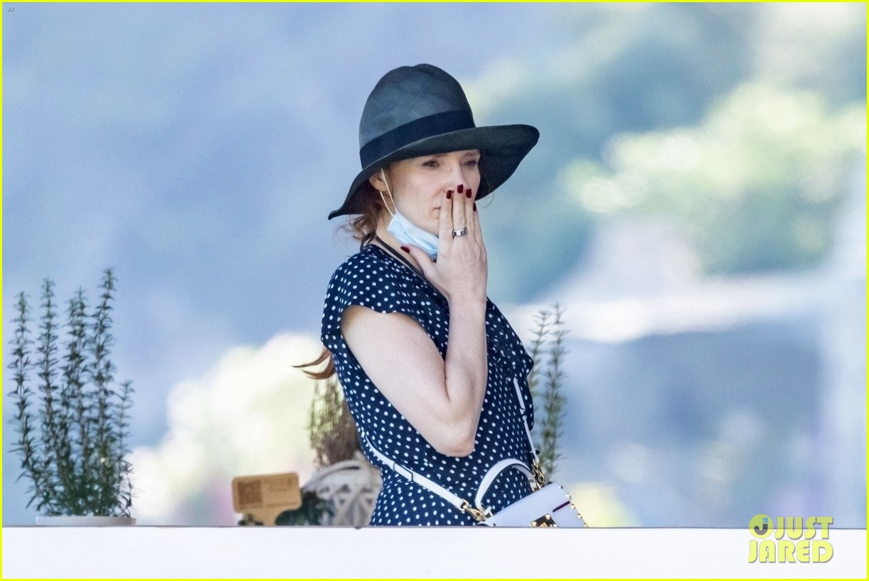 jessica chastain runs into sting in italy 014591672