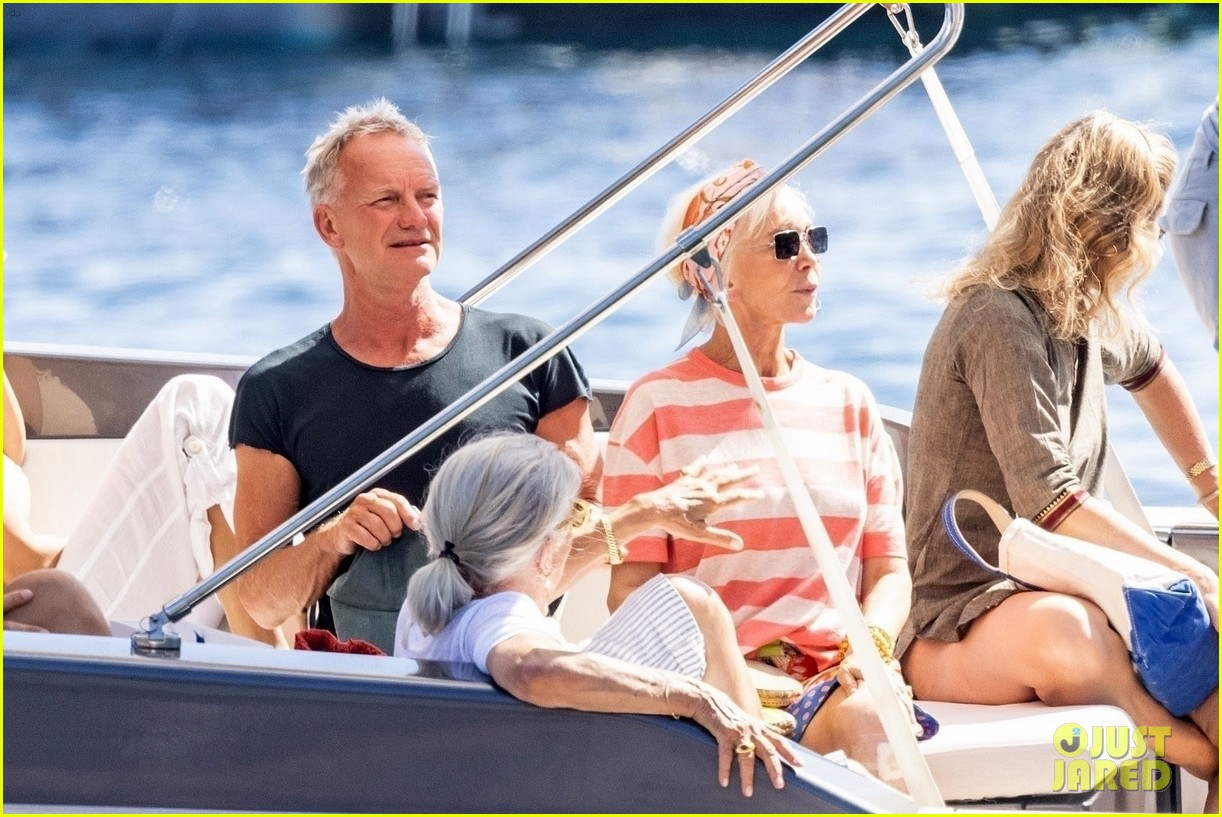 jessica chastain runs into sting in italy 054591676