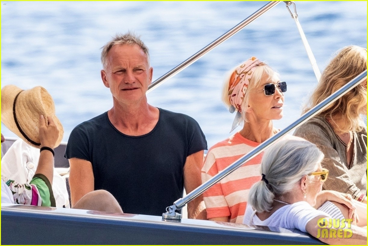 jessica chastain runs into sting in italy 064591677