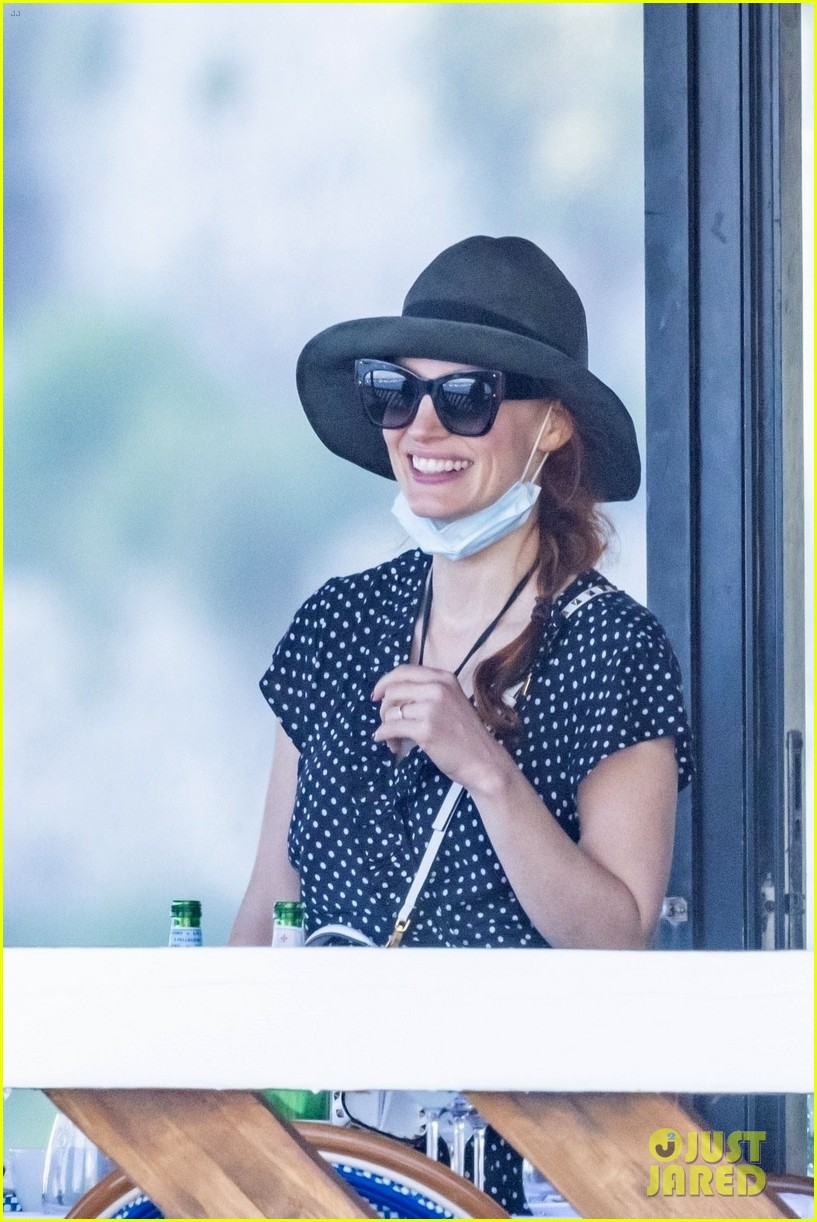 jessica chastain runs into sting in italy 074591678