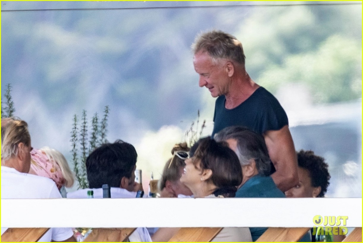 jessica chastain runs into sting in italy 084591679