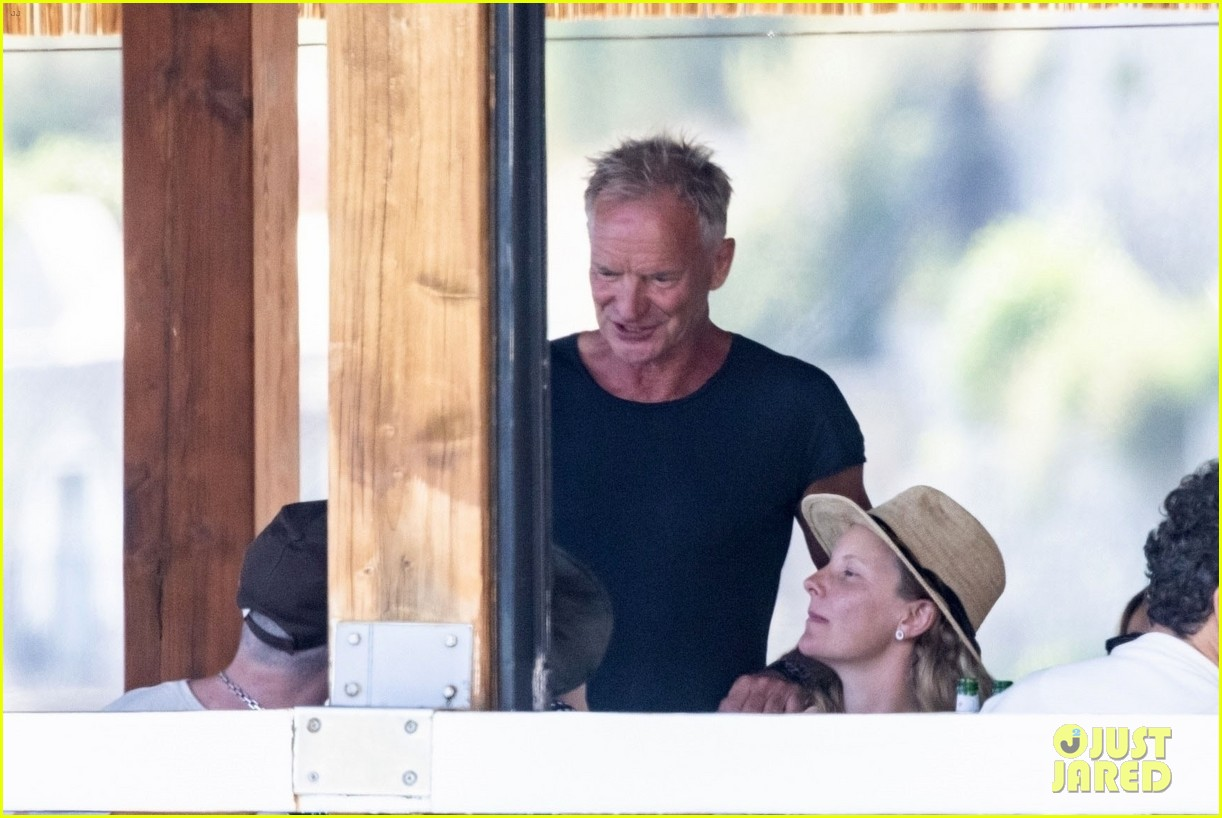 jessica chastain runs into sting in italy 104591681