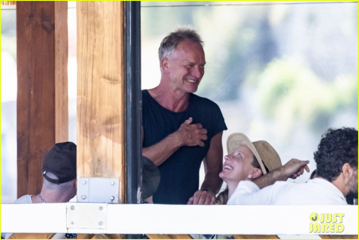 jessica chastain runs into sting in italy 114591682