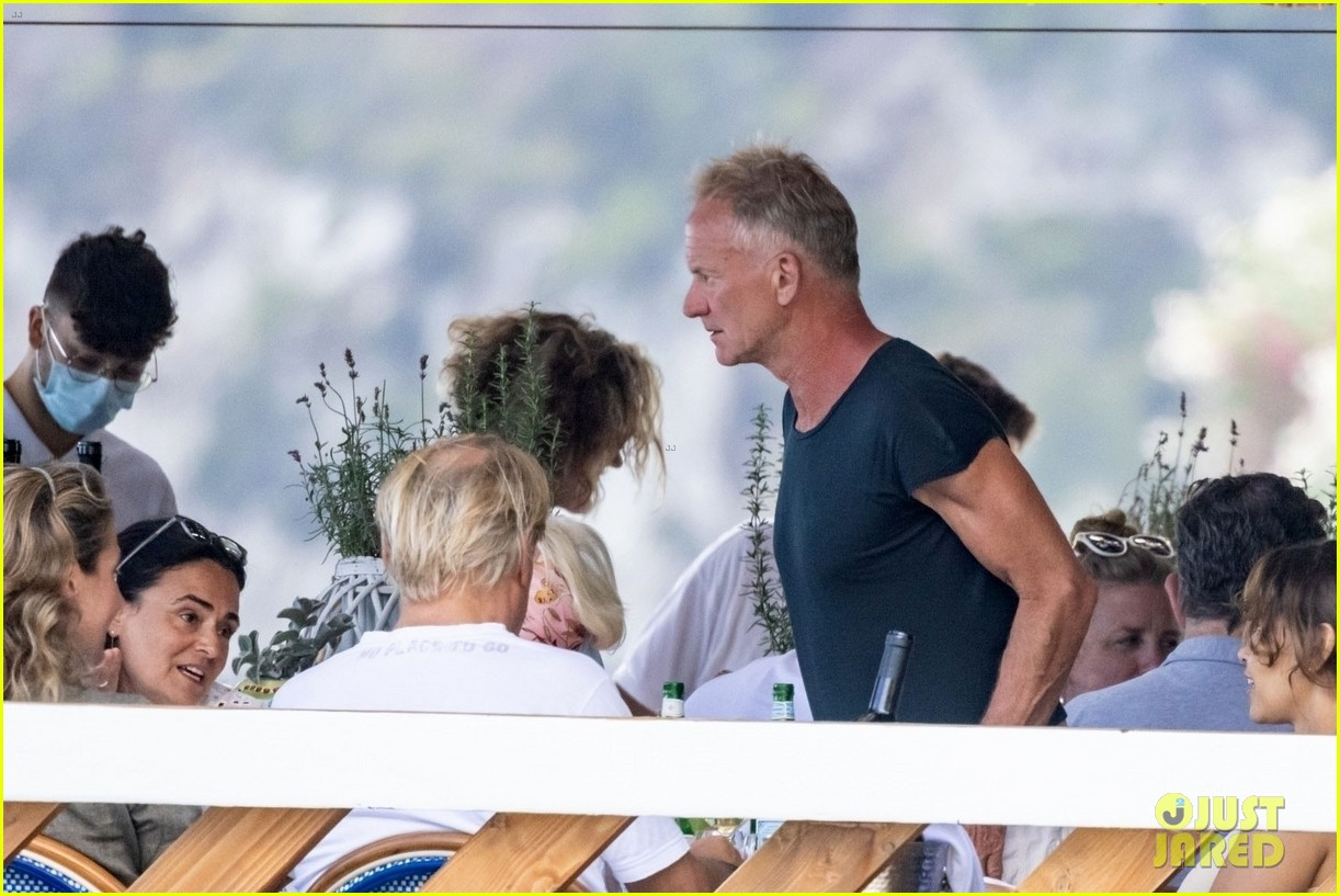 jessica chastain runs into sting in italy 124591683