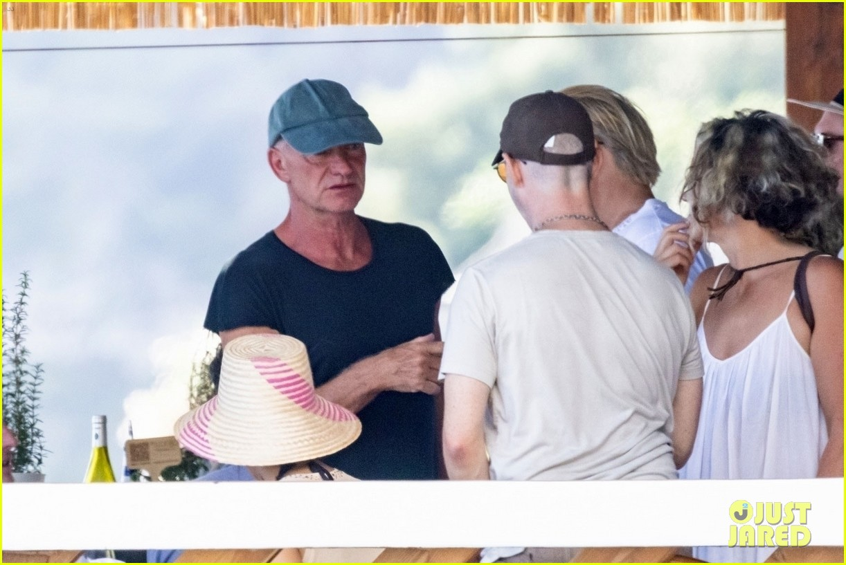 jessica chastain runs into sting in italy 14