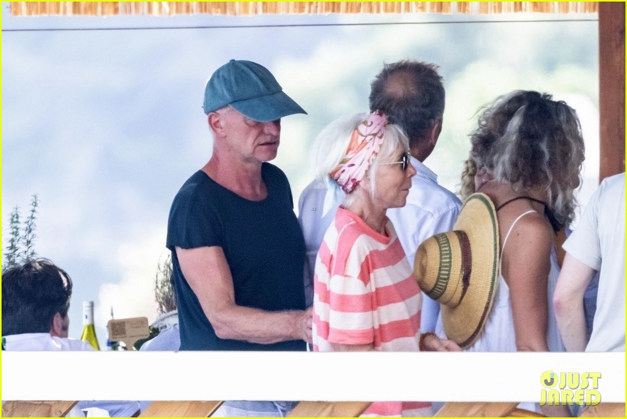 jessica chastain runs into sting in italy 174591688