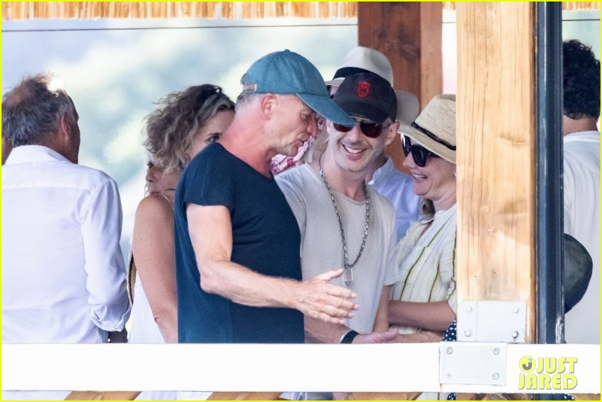 jessica chastain runs into sting in italy 184591689