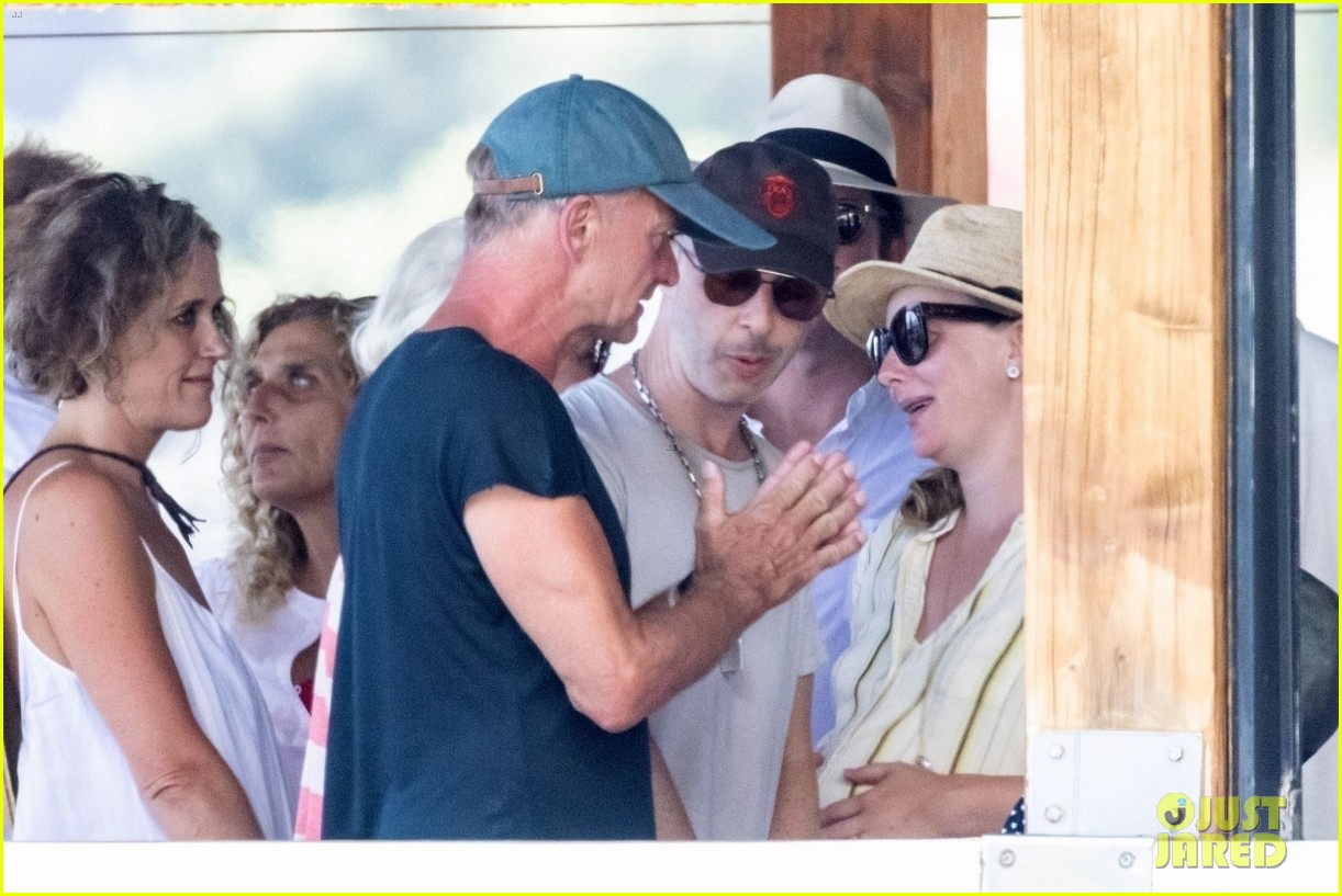 jessica chastain runs into sting in italy 194591690