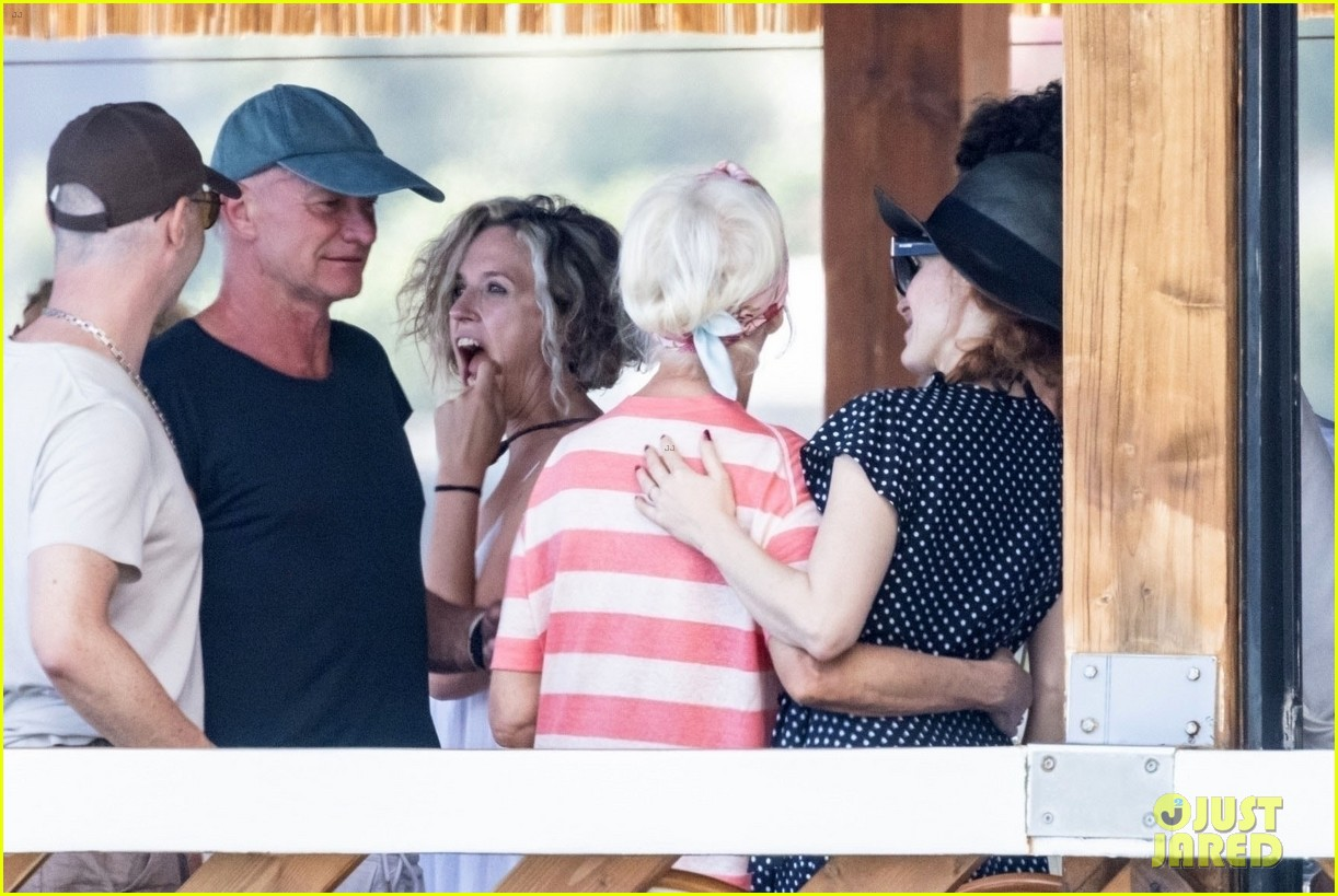 jessica chastain runs into sting in italy 214591692