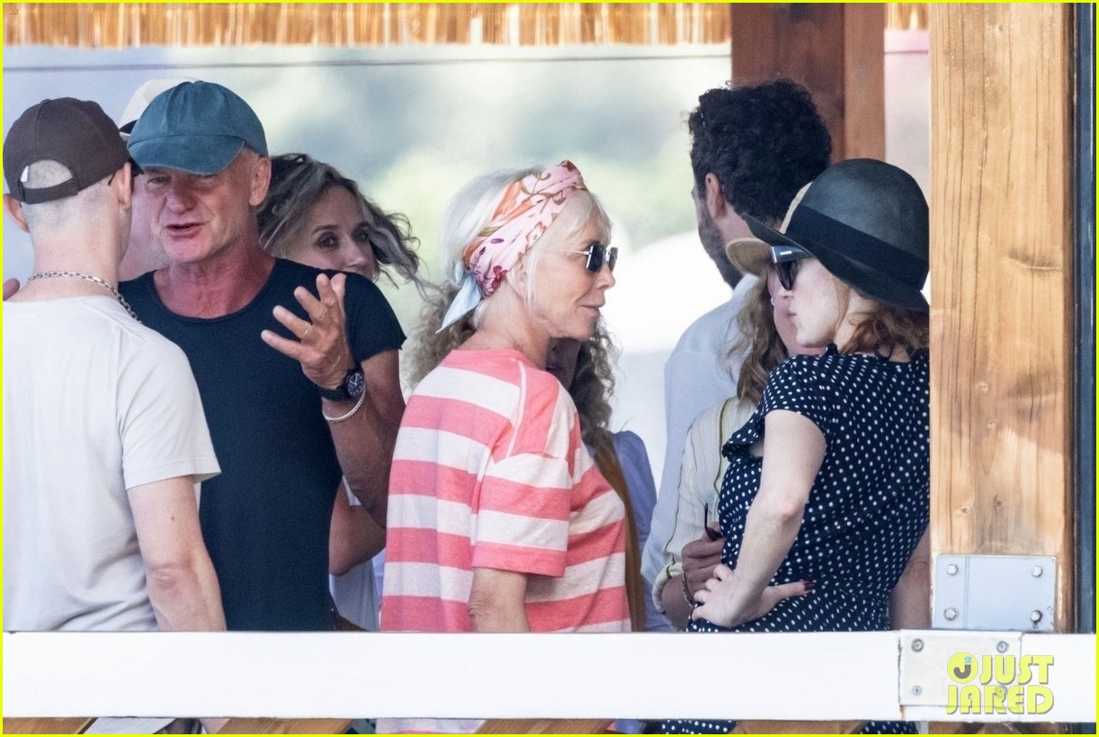 jessica chastain runs into sting in italy 224591693