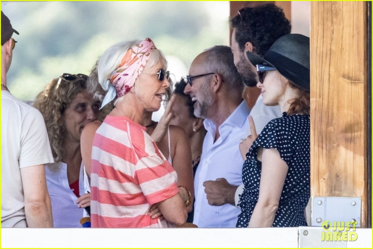 jessica chastain runs into sting in italy 244591695