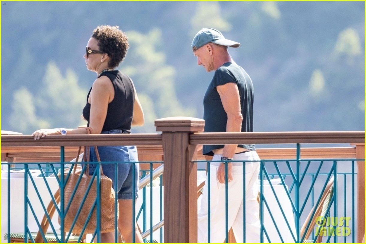 jessica chastain runs into sting in italy 284591699