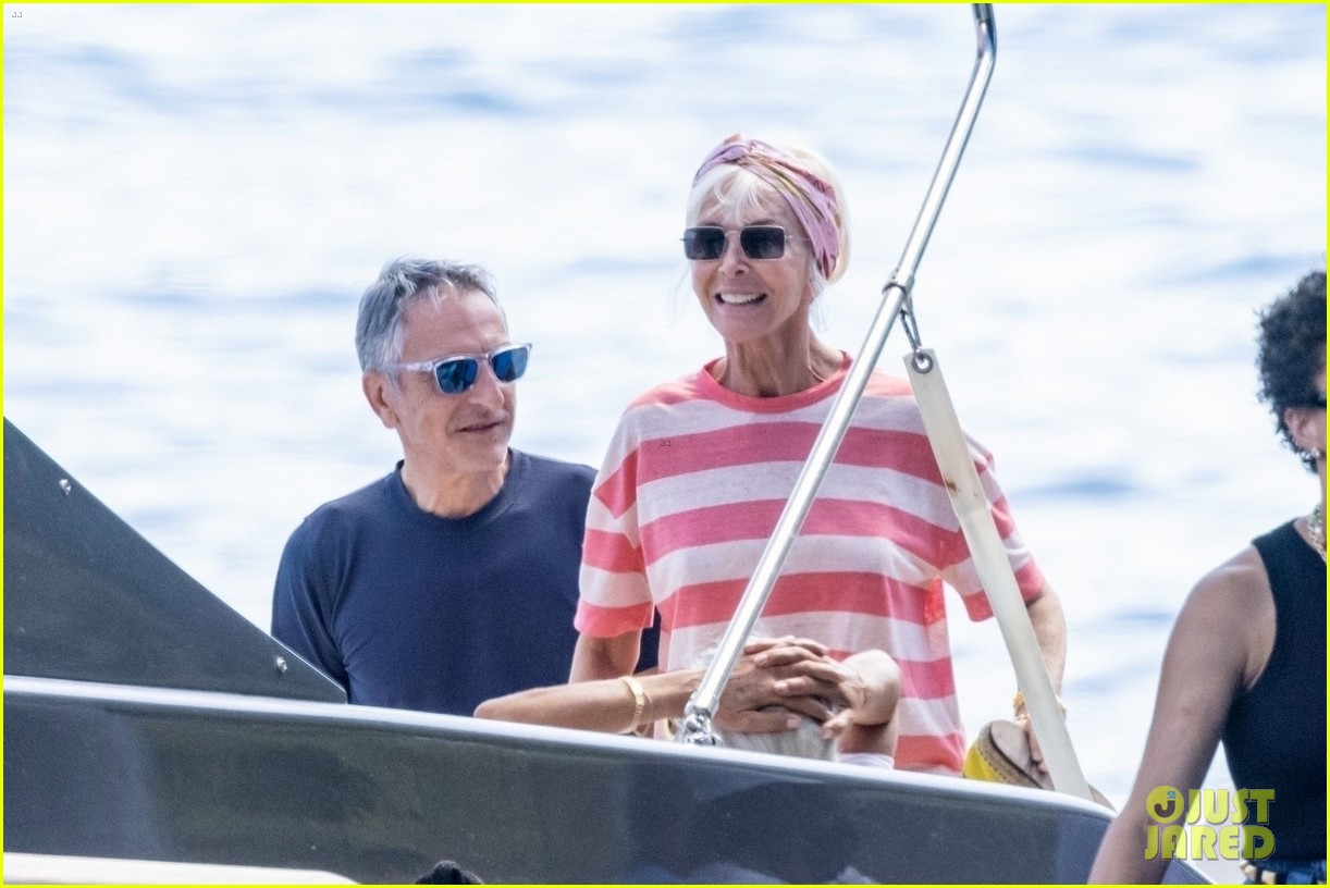 jessica chastain runs into sting in italy 304591701