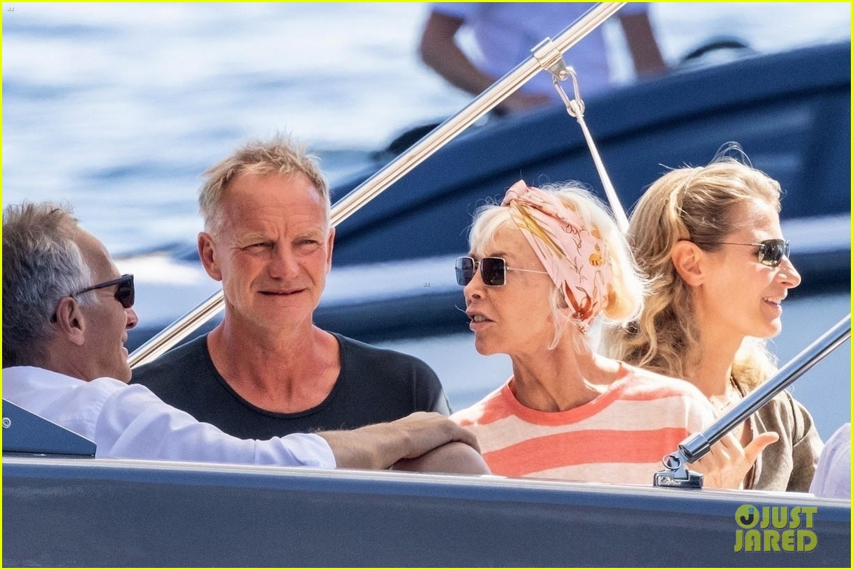 jessica chastain runs into sting in italy 314591702