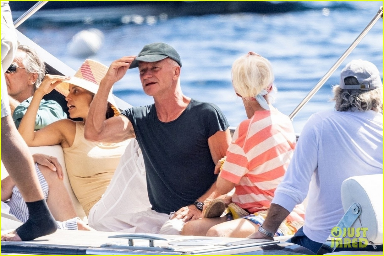 jessica chastain runs into sting in italy 324591703