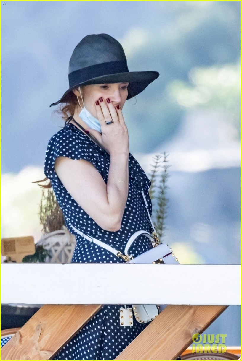 jessica chastain runs into sting in italy 344591705