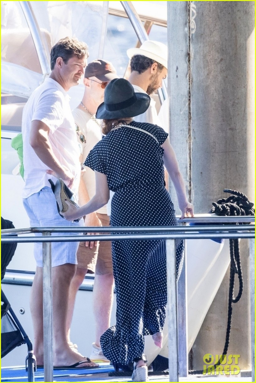jessica chastain runs into sting in italy 364591707
