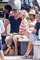 jessica chastain runs into sting in italy 33