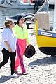 cher neon yellow pink boat arrival wrap up vacation 82