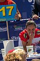 joey chestnut breaks record at nathan hot dog eating contest 08