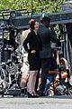 chris wood jeremy jordan return to film funeral scene on supergirl set 05