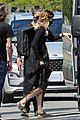 chris wood jeremy jordan return to film funeral scene on supergirl set 06