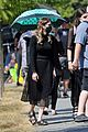 chris wood jeremy jordan return to film funeral scene on supergirl set 15