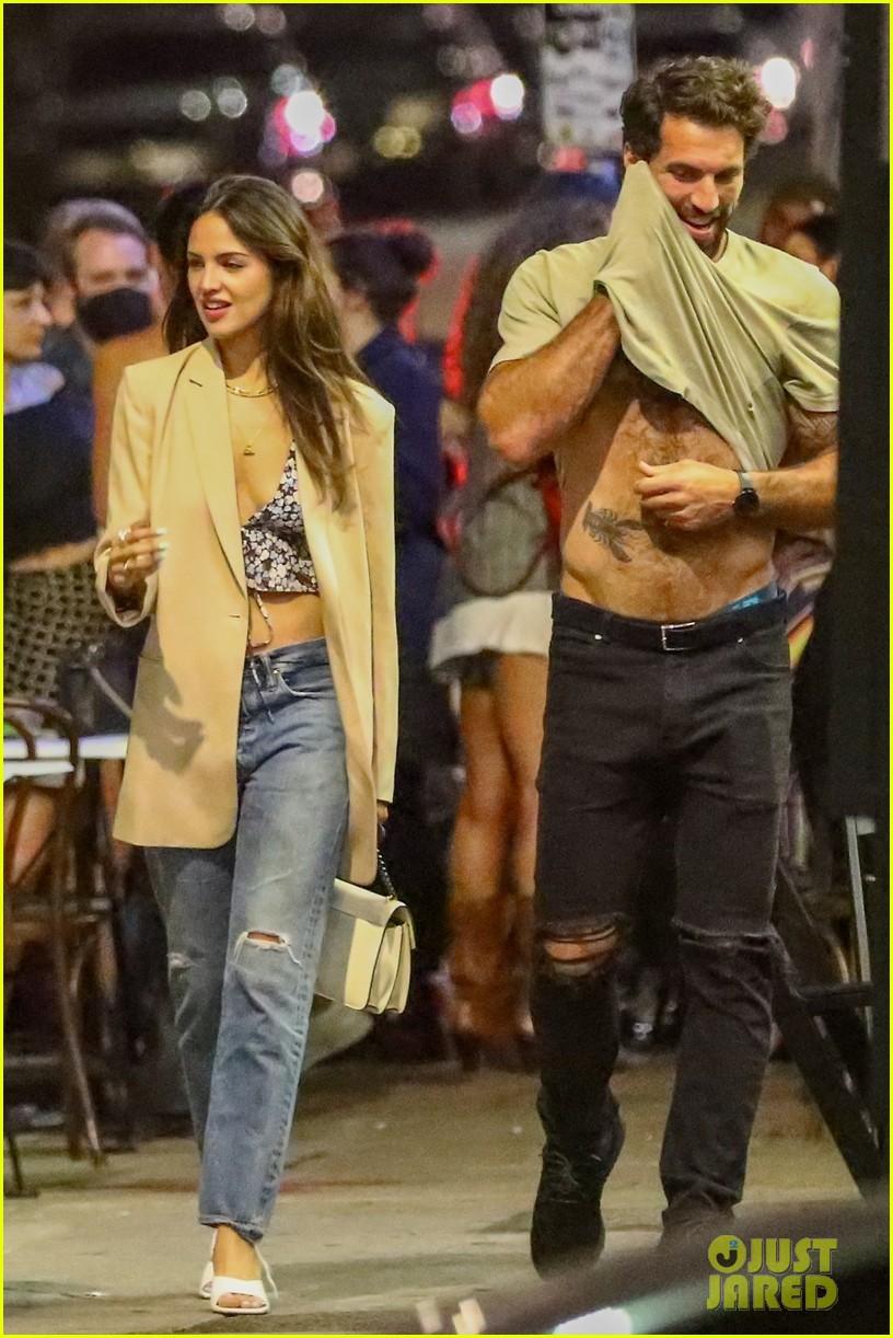 eiza gonzalez boyfriend paul rabil shows off his hot bod night out 014590924