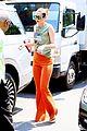 gigi hadid orange pants outing nyc 01