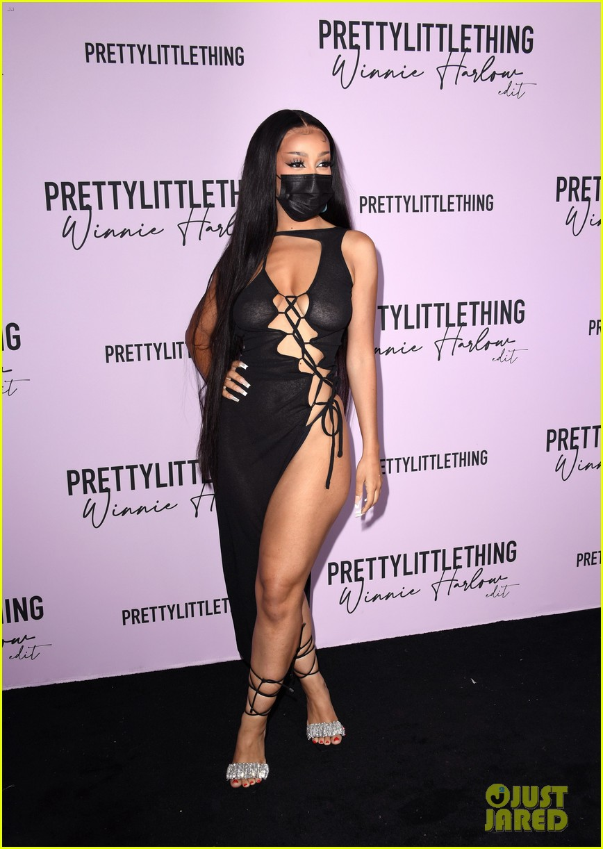 winnie harlow prettylittlethings launchstar studded party 014589138