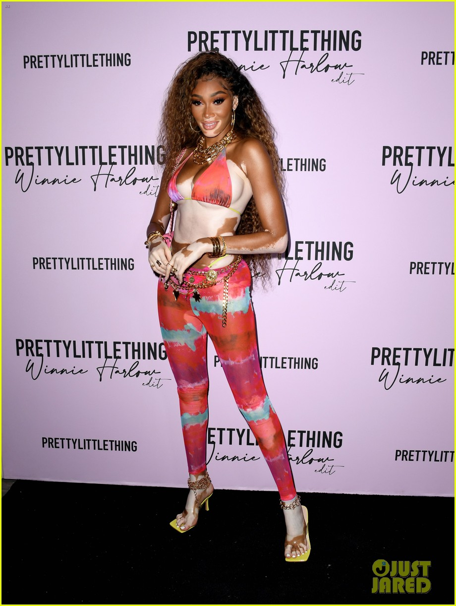 winnie harlow prettylittlethings launchstar studded party 034589140