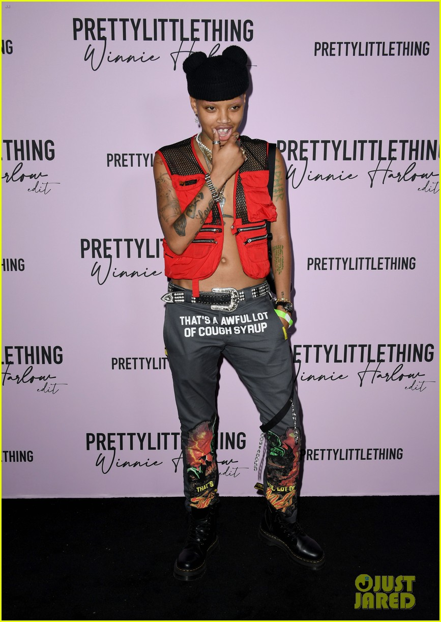 winnie harlow prettylittlethings launchstar studded party 094589146