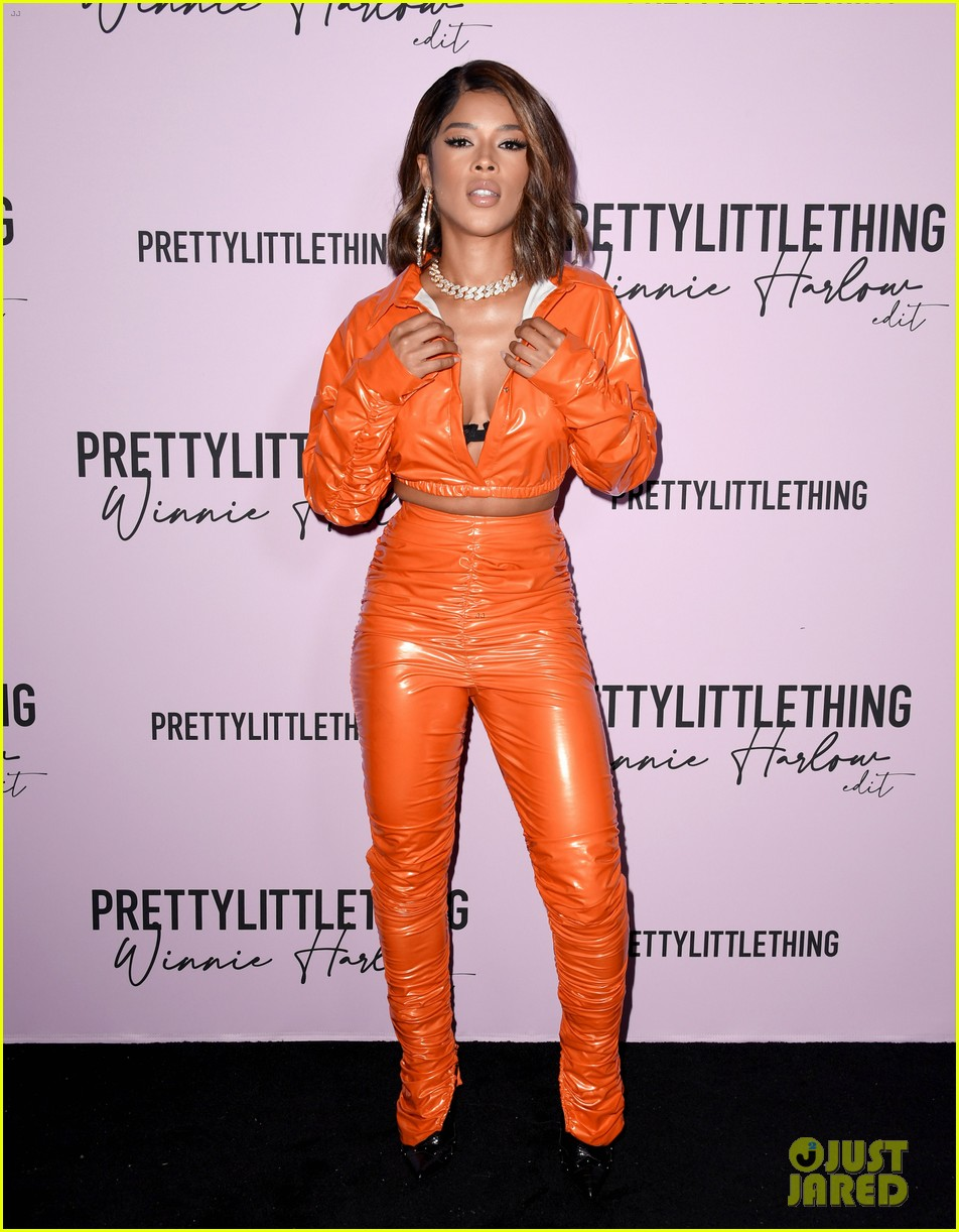 winnie harlow prettylittlethings launchstar studded party 164589153