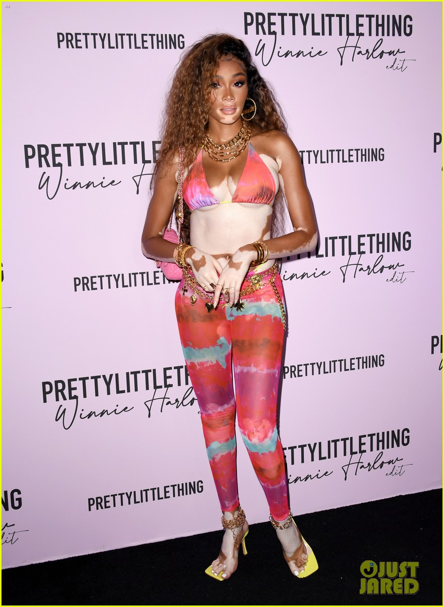 winnie harlow prettylittlethings launchstar studded party 234589160
