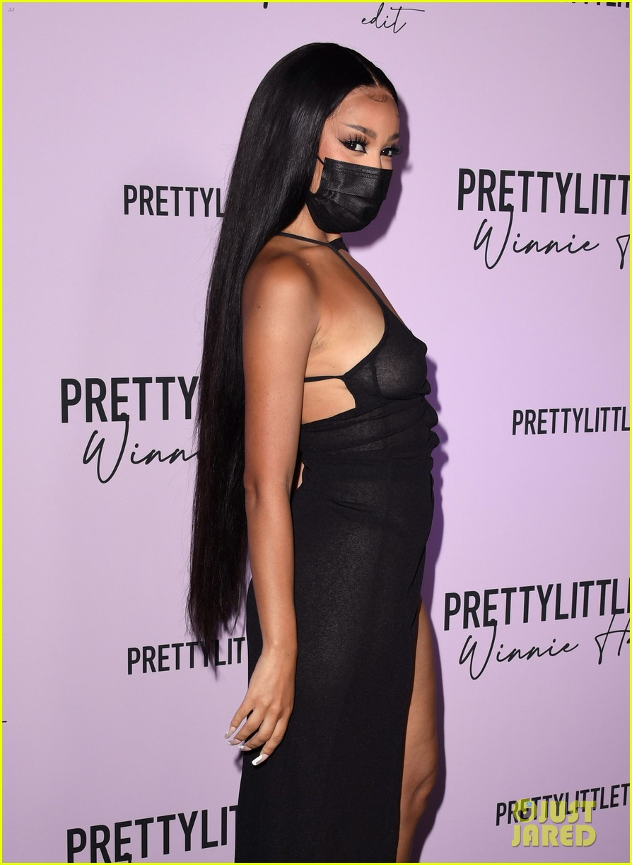 winnie harlow prettylittlethings launchstar studded party 284589165