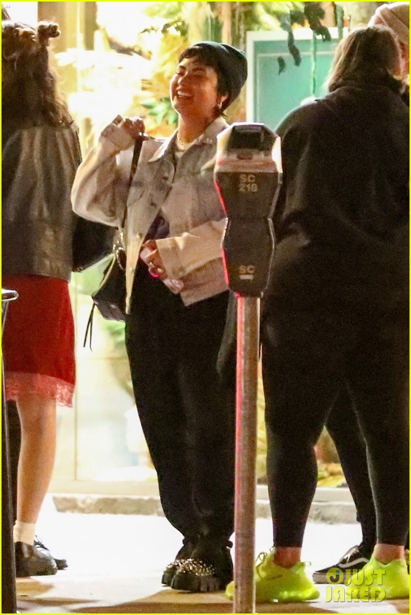 demi lovato grabs ice cream with friends at salt and straw 034583819