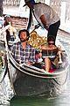 jared padalecki genevieve gondola ride in venice 11