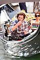 jared padalecki genevieve gondola ride in venice 68