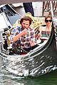 jared padalecki genevieve gondola ride in venice 69