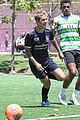 justin bieber plays soccer with friends 54