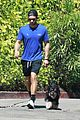 chace crawford walk with his dog 01