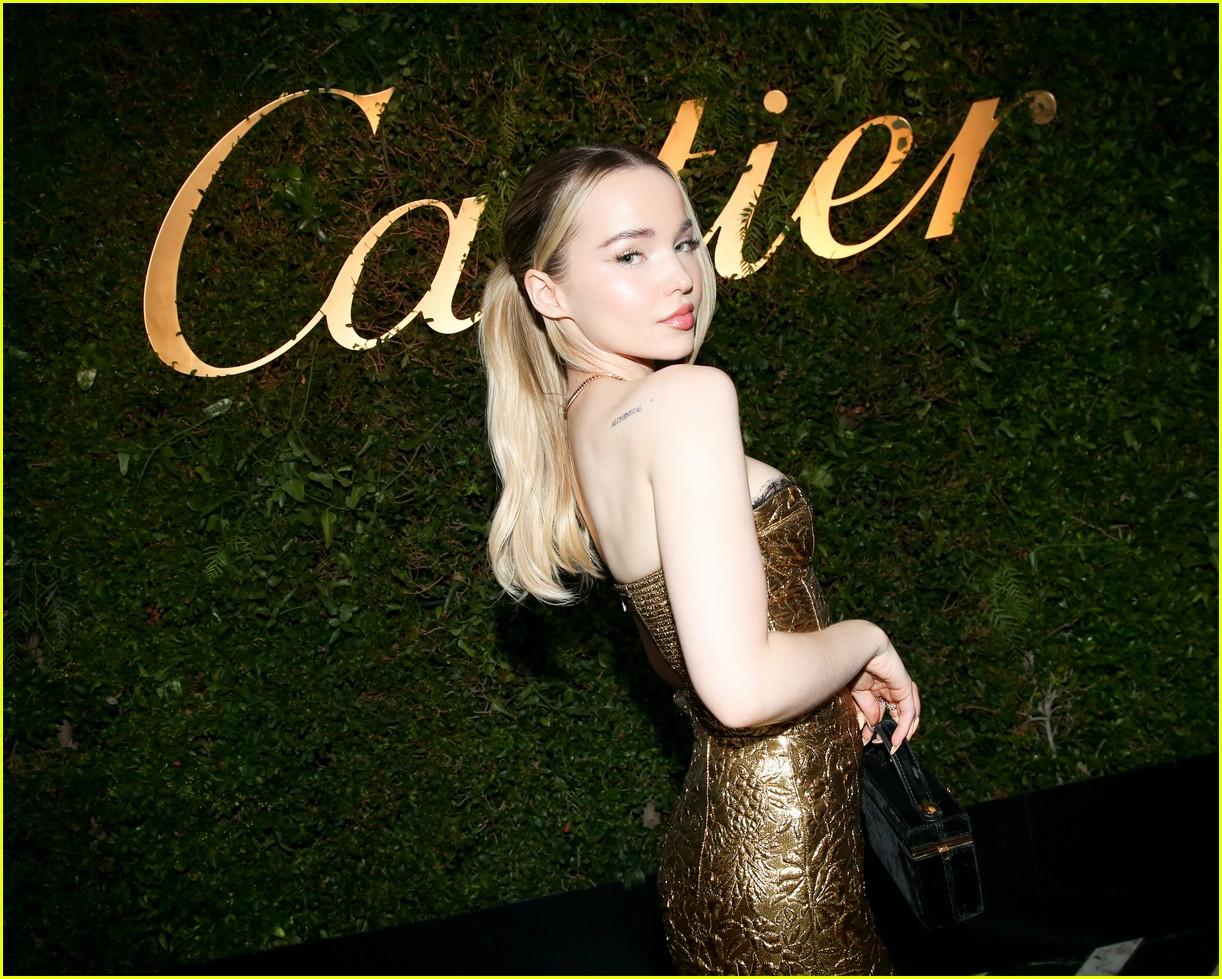lily collins dove cameron cartier event 024609997